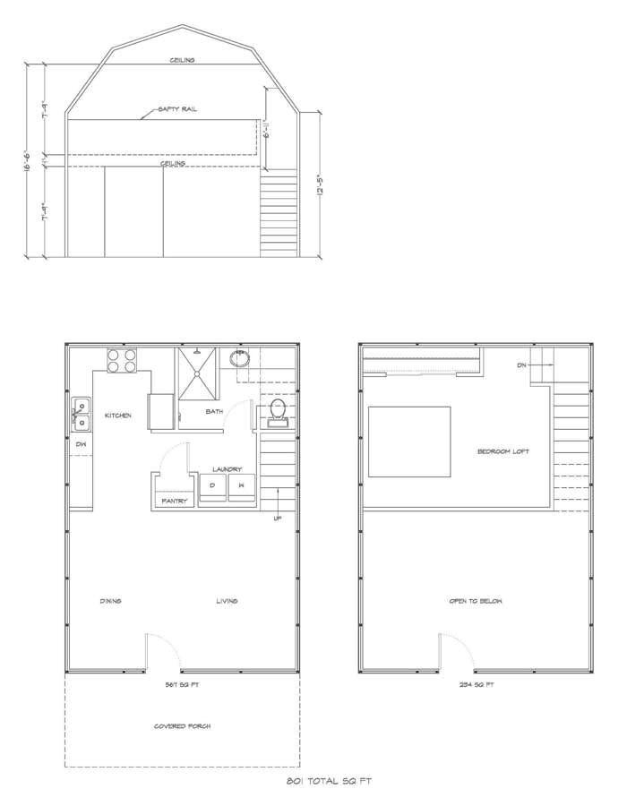 lofted barn cabin floor plans