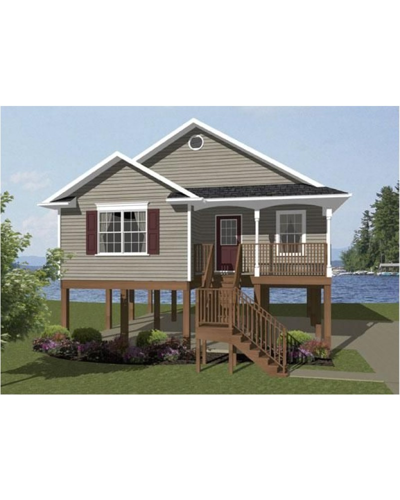 small beach front house plans