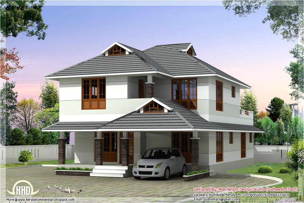 Beautiful Home Plans 1760 Sq Feet Beautiful 4 Bedroom House Plan Kerala Home