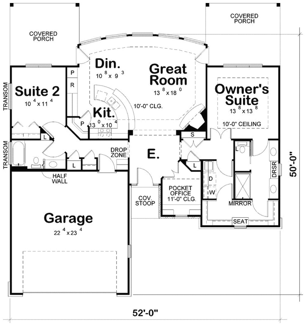 modern retirement house plans