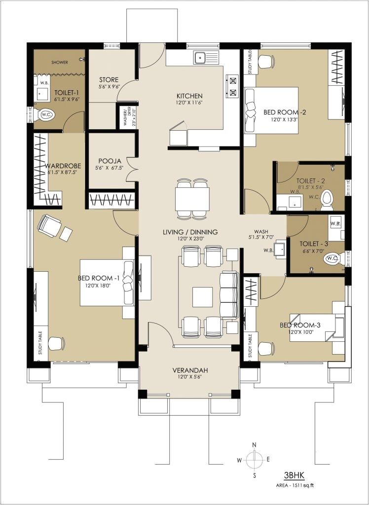 recommended retirement home floor plans