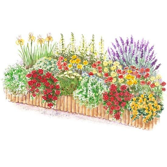 Better Homes and Gardens Flower Garden Plans Hot Color Flower Garden Plan