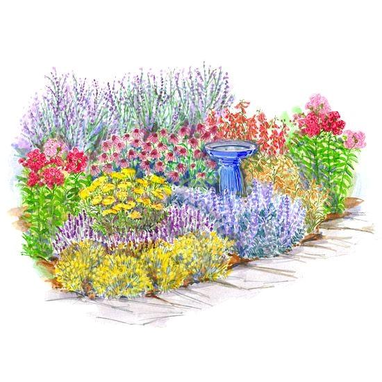 Better Homes and Gardens Flower Garden Plans No Fuss Garden Plans Gardens Backyards and Deer