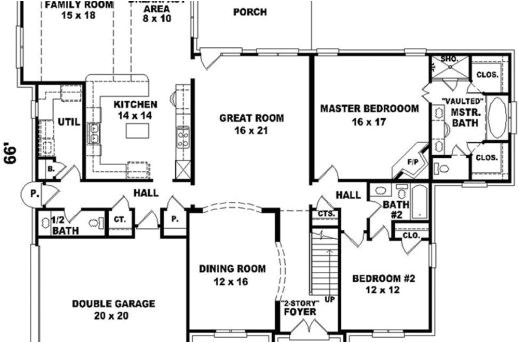 big house floor plans 2 story 2