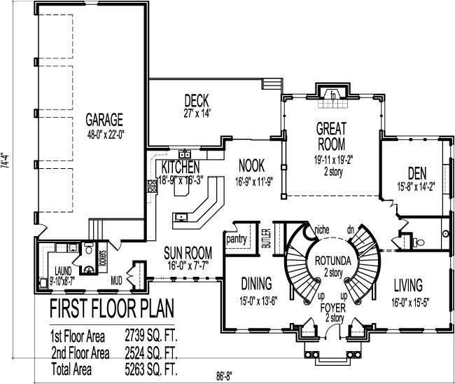 Big House Floor Plans 2 Story Colonial Home Plans Circular Stair 5000 Sf 2 Story 4 Br 5