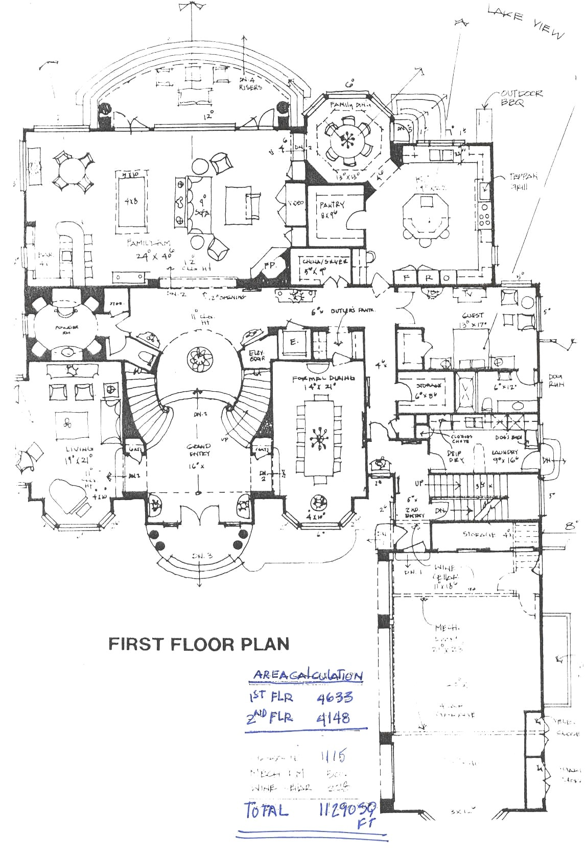 biggest house floor plan world