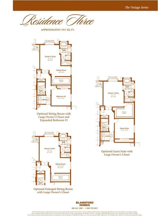 blandford homes floor plans