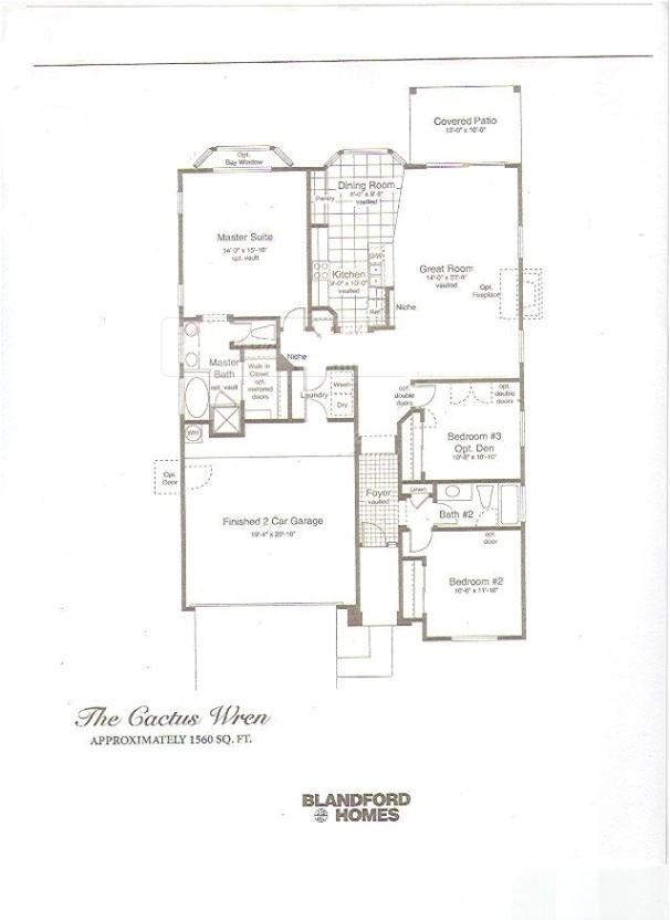 Blandford Homes Floor Plans Las Sendas Floor Plans Intended for Blandford Homes Floor
