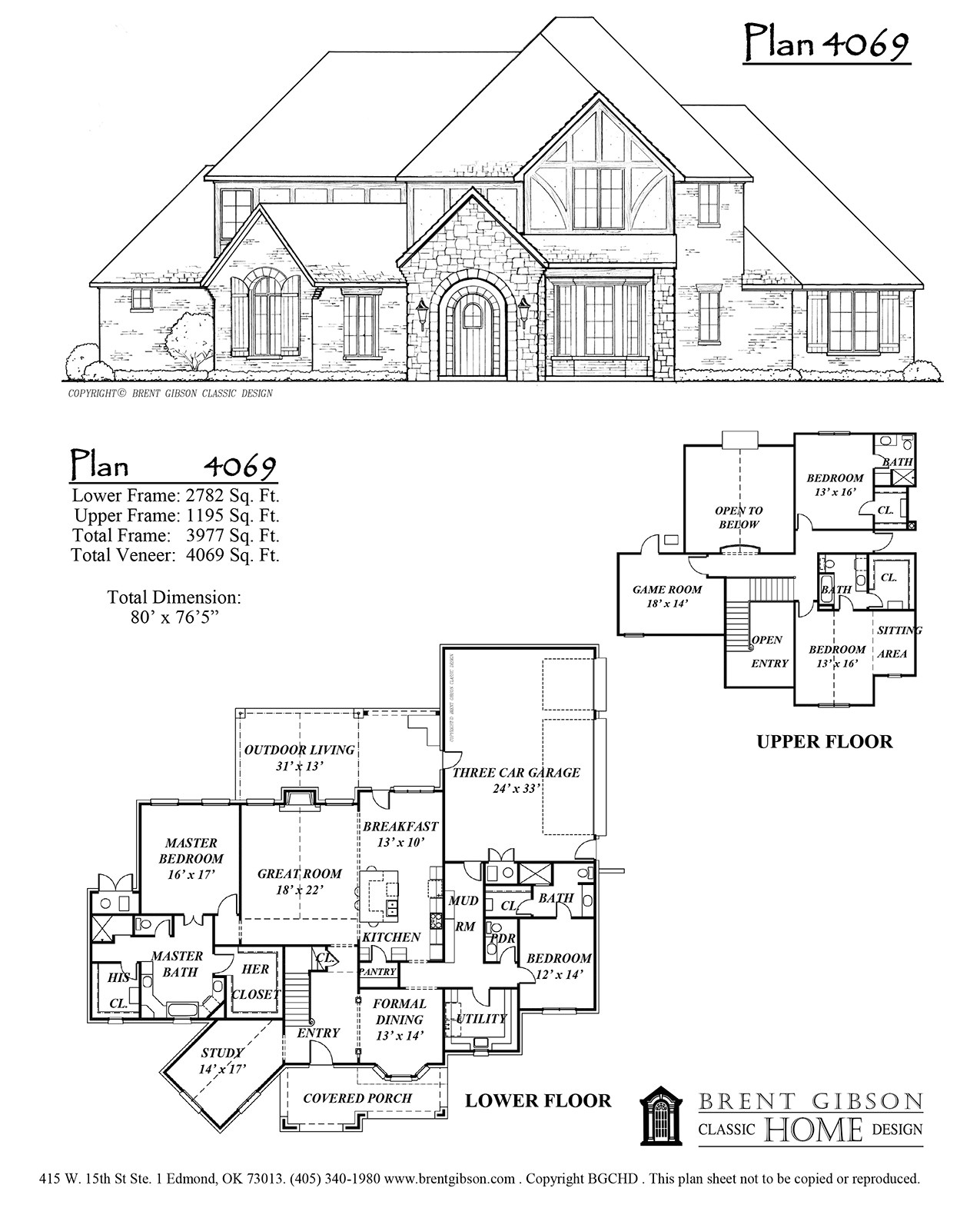 Brent Gibson Home Plans Plan 4069 Brent Gibson