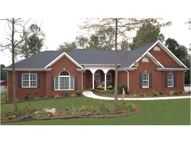 brick ranch house plans