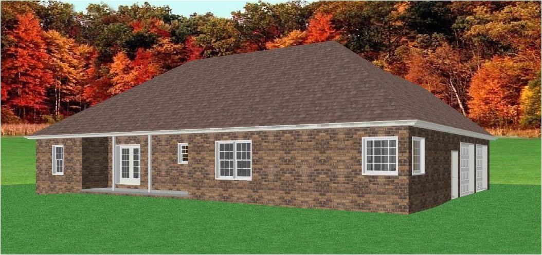 brick ranch home plan d68 1883