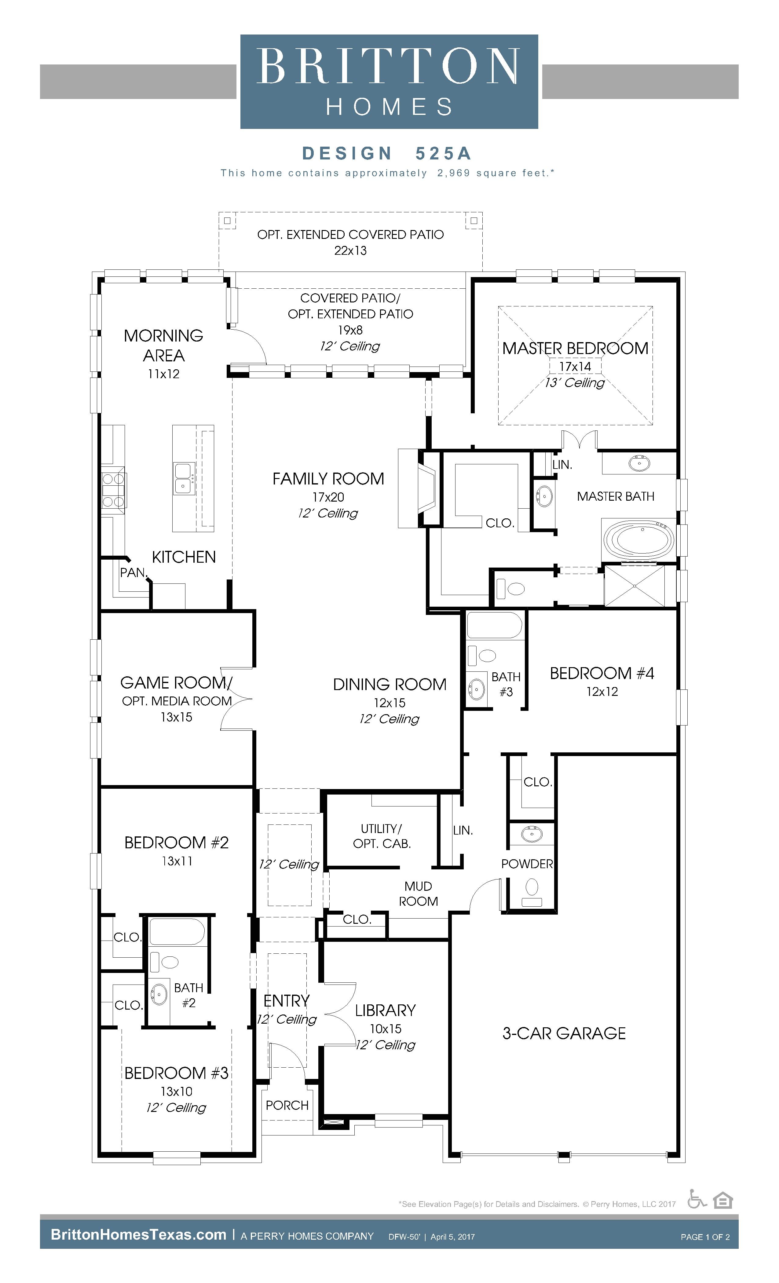 floor plan friday plan 525a britton homes