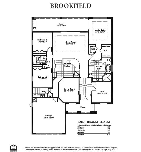 brookfield homes floor plans