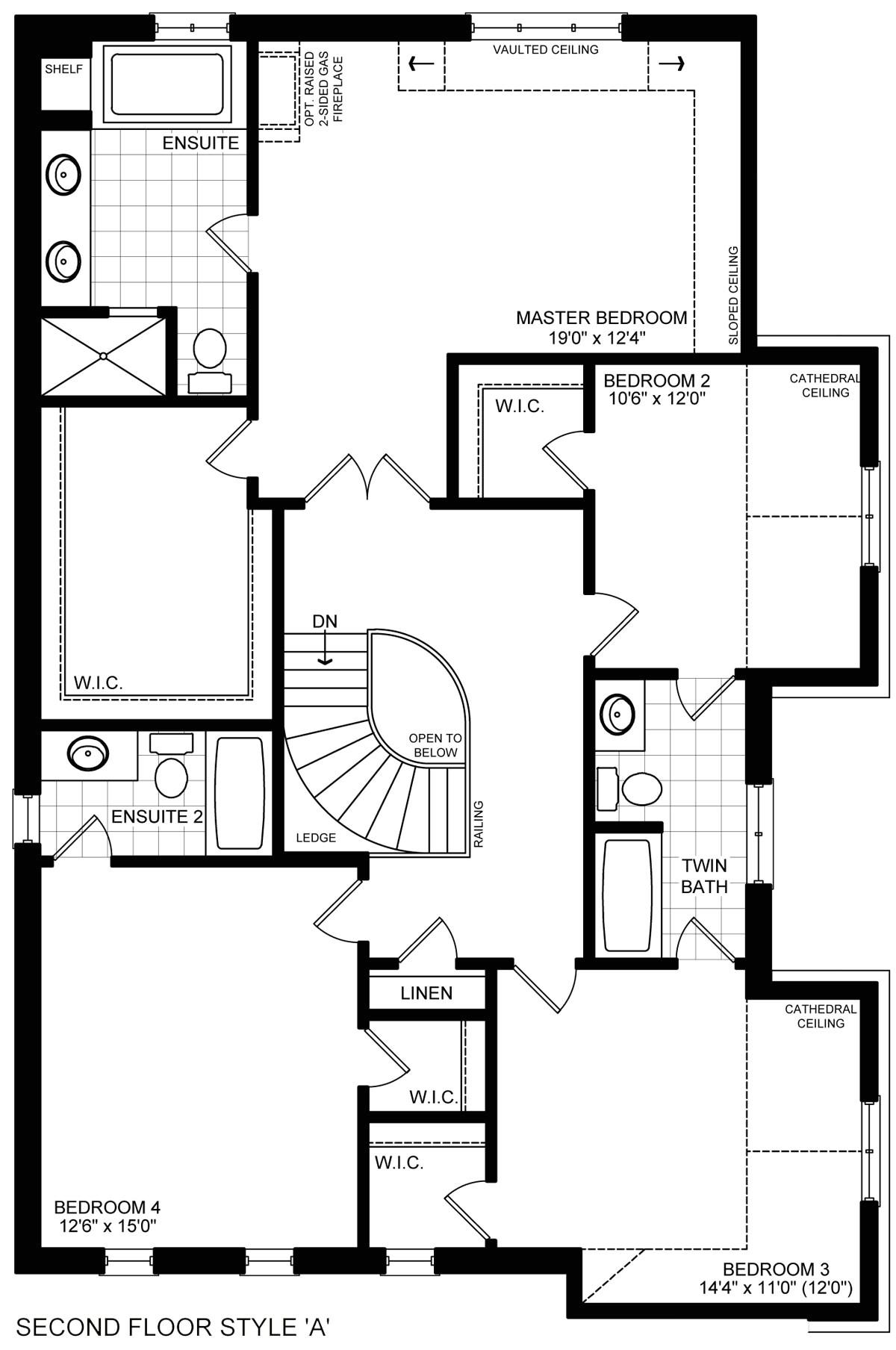 brookfield homes tottenham floor plan