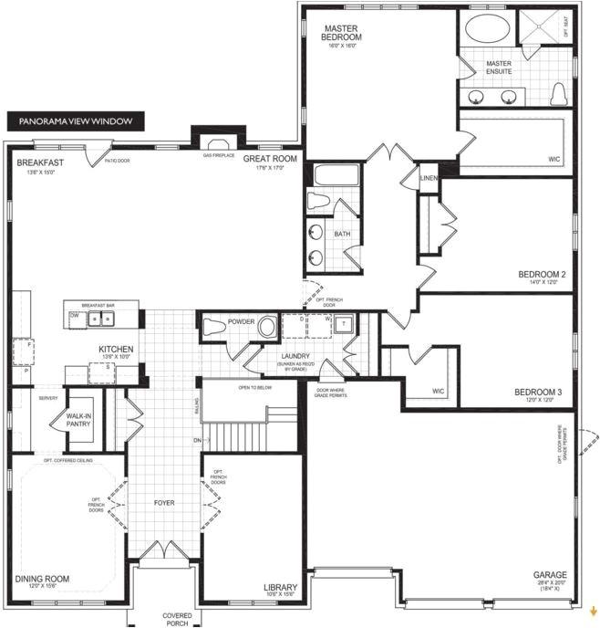 brookfield homes yardley floor plan