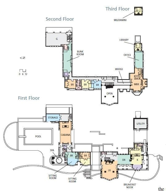 c shape floor plan