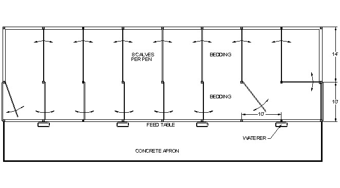 calf shed plans