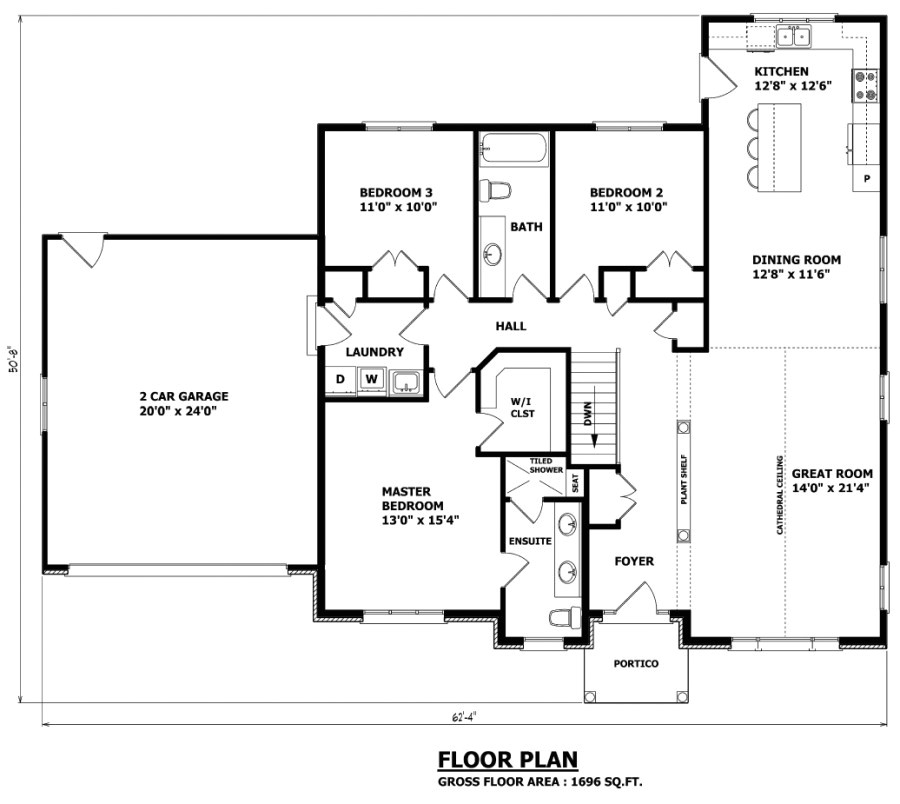 the thunder bay bungalow house plan