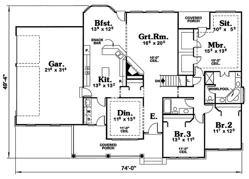 cape cod house plans open floor plan