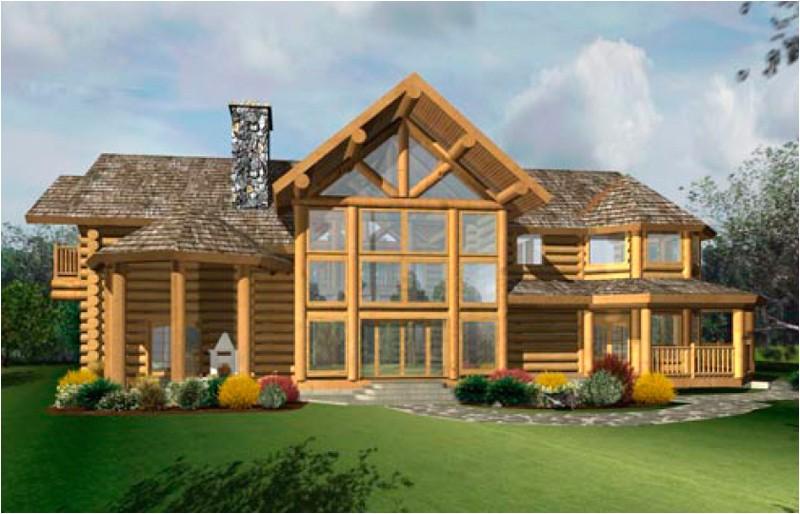 kootenai log home floor plan caribou creek timber 244302