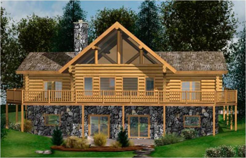 wenatchee log home floor plan caribou creek timber 312179