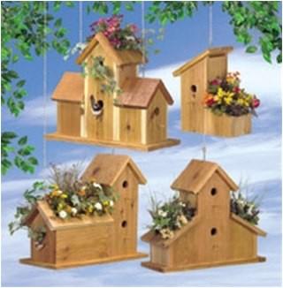 cedar birdhouse planter plan