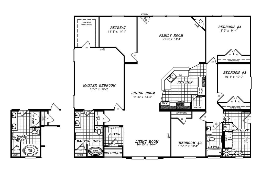 manufactured home floor plan clayton triple wide updated 268850