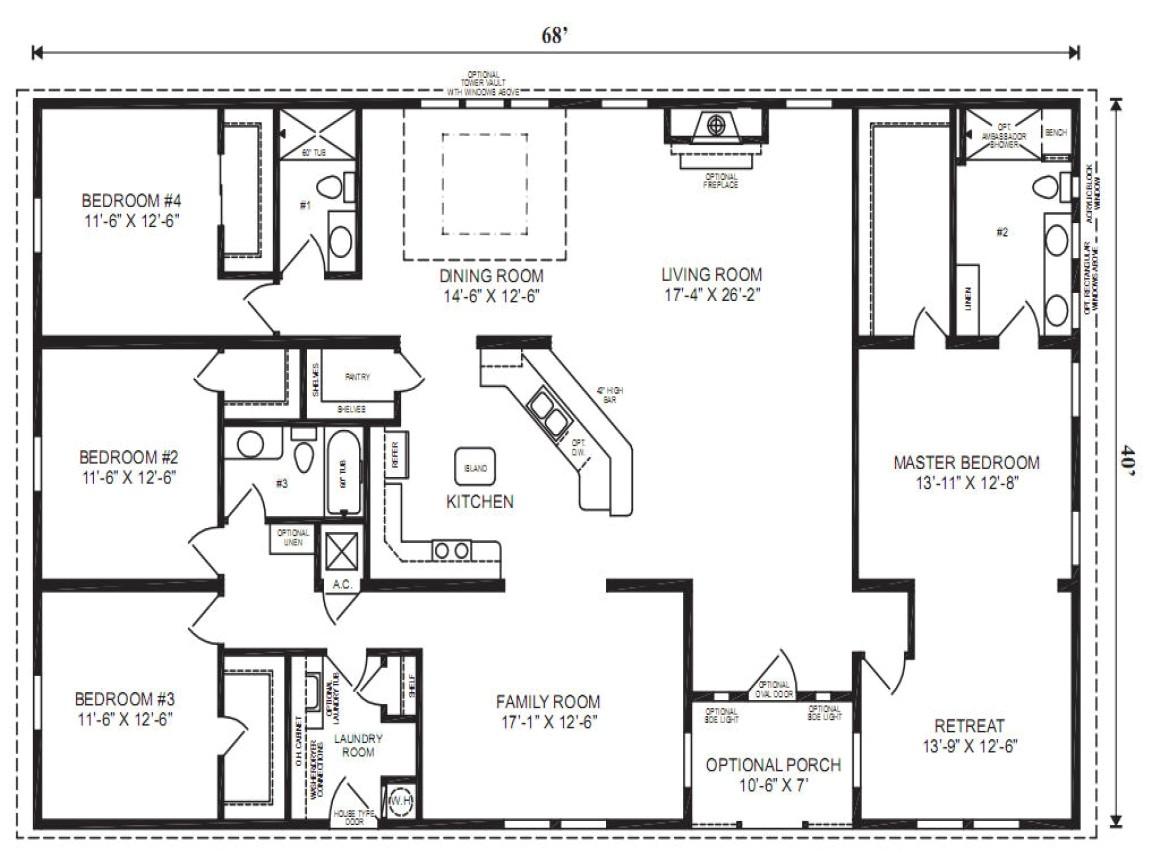 Clayton Homes Triple Wide Floor Plans Mobile Modular Home Floor Plans Clayton Triple Wide Mobile