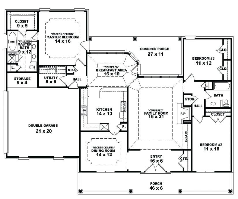 open concept floor plans one story