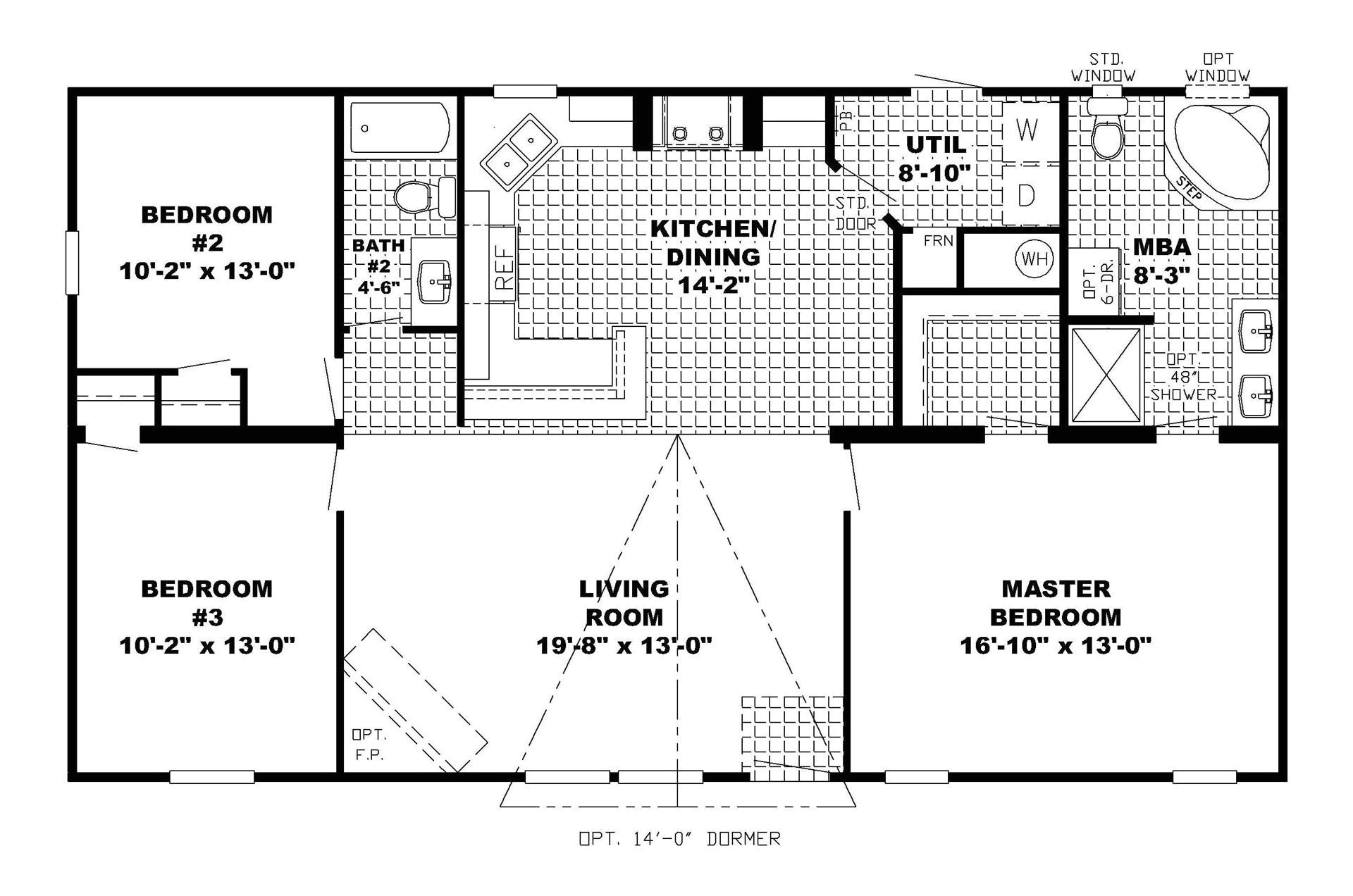 small ranch open concept floor plans