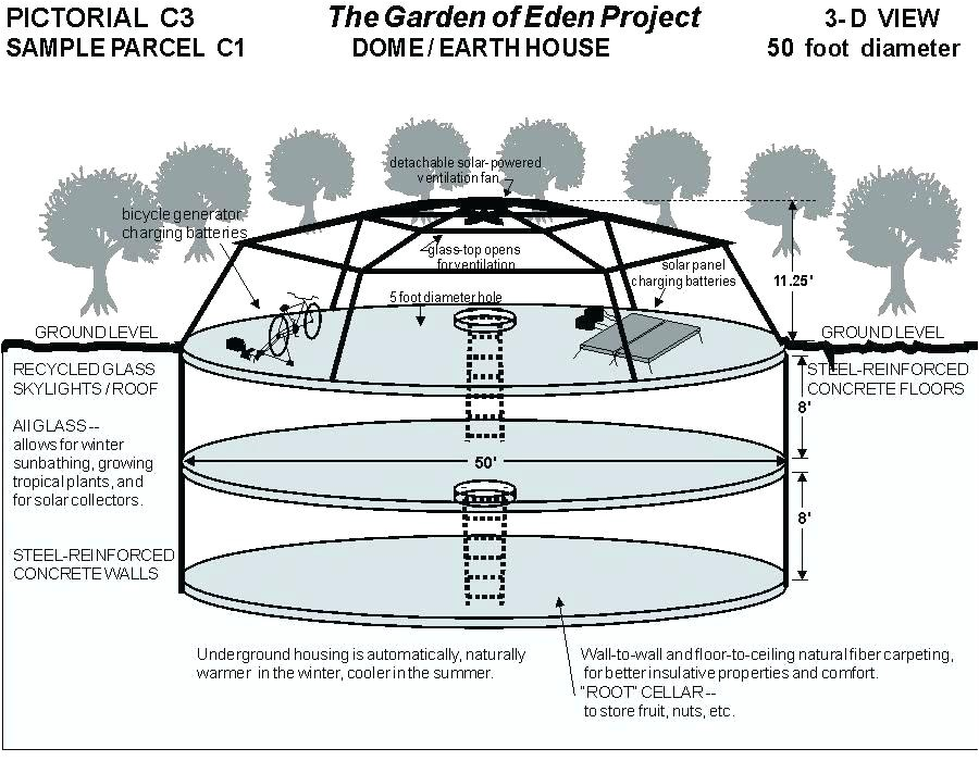 concrete dome home floor plans