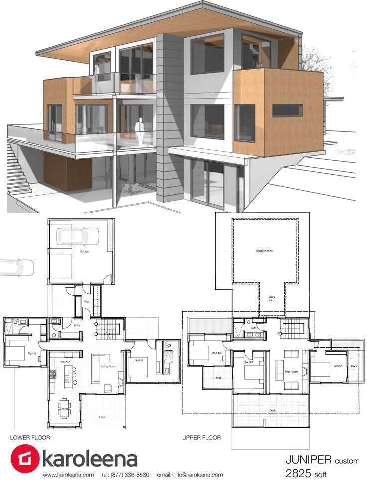 floor plans for modern homes