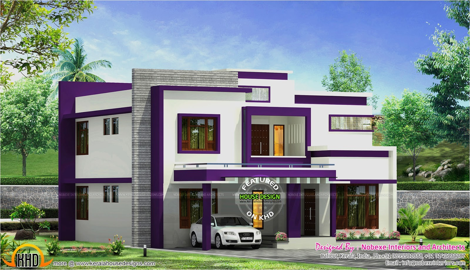 Contemporary Home Plans and Designs Contemporary Home Design by Nobexe Interiors Kerala Home