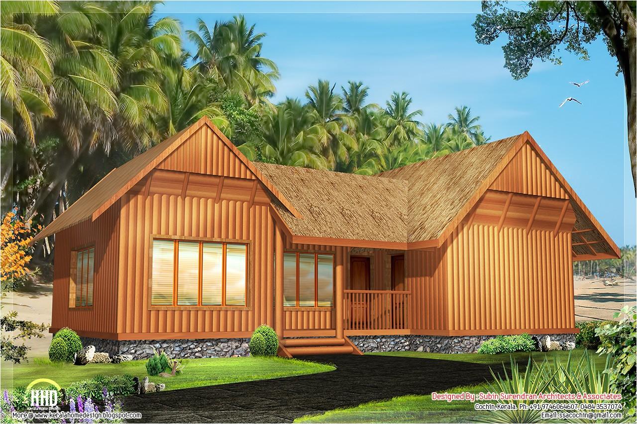 2 single floor cottage home designs