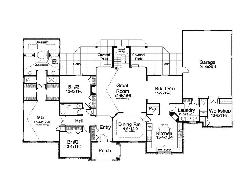 country house plans 1 story