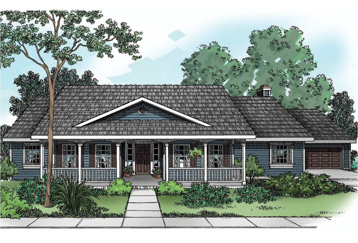 Country Home Plans One Story House Plan Redmond 30 226 Country House Plans