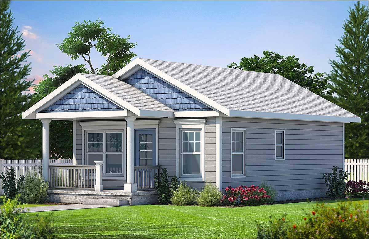 cozy 2 bed tiny house plan 42332db