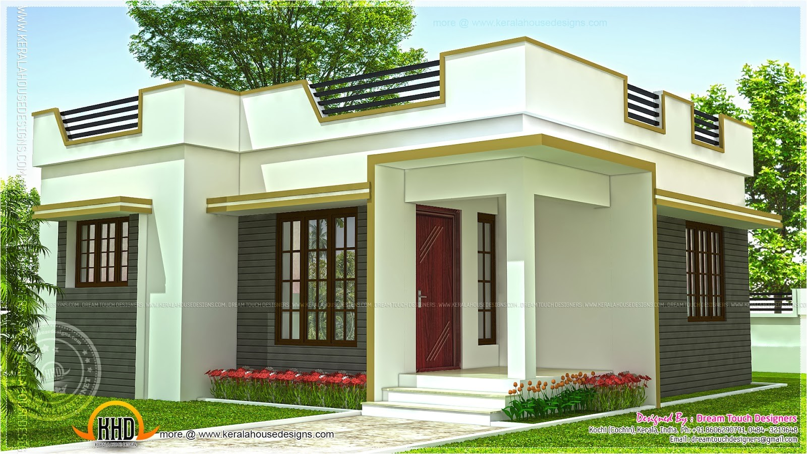 small and simple but beautiful house