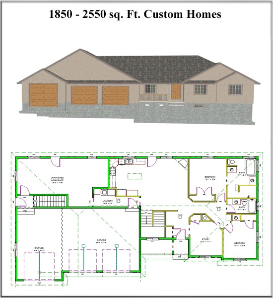 custom home floor plans with cost to build