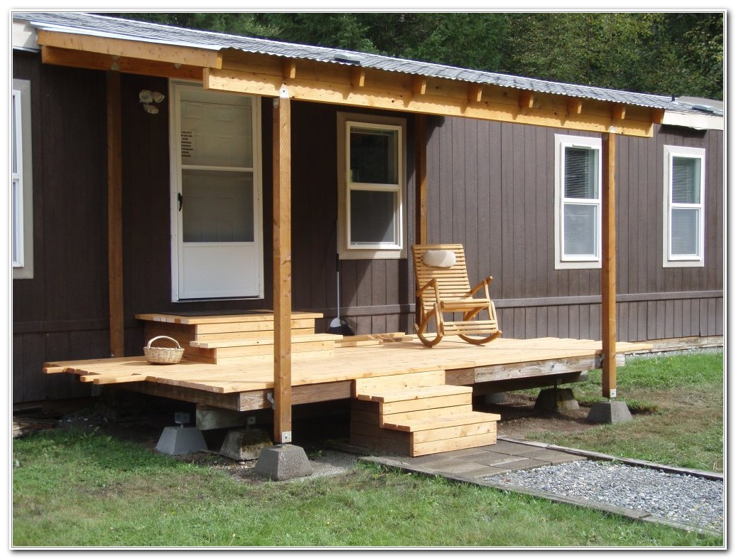 build deck for mobile home
