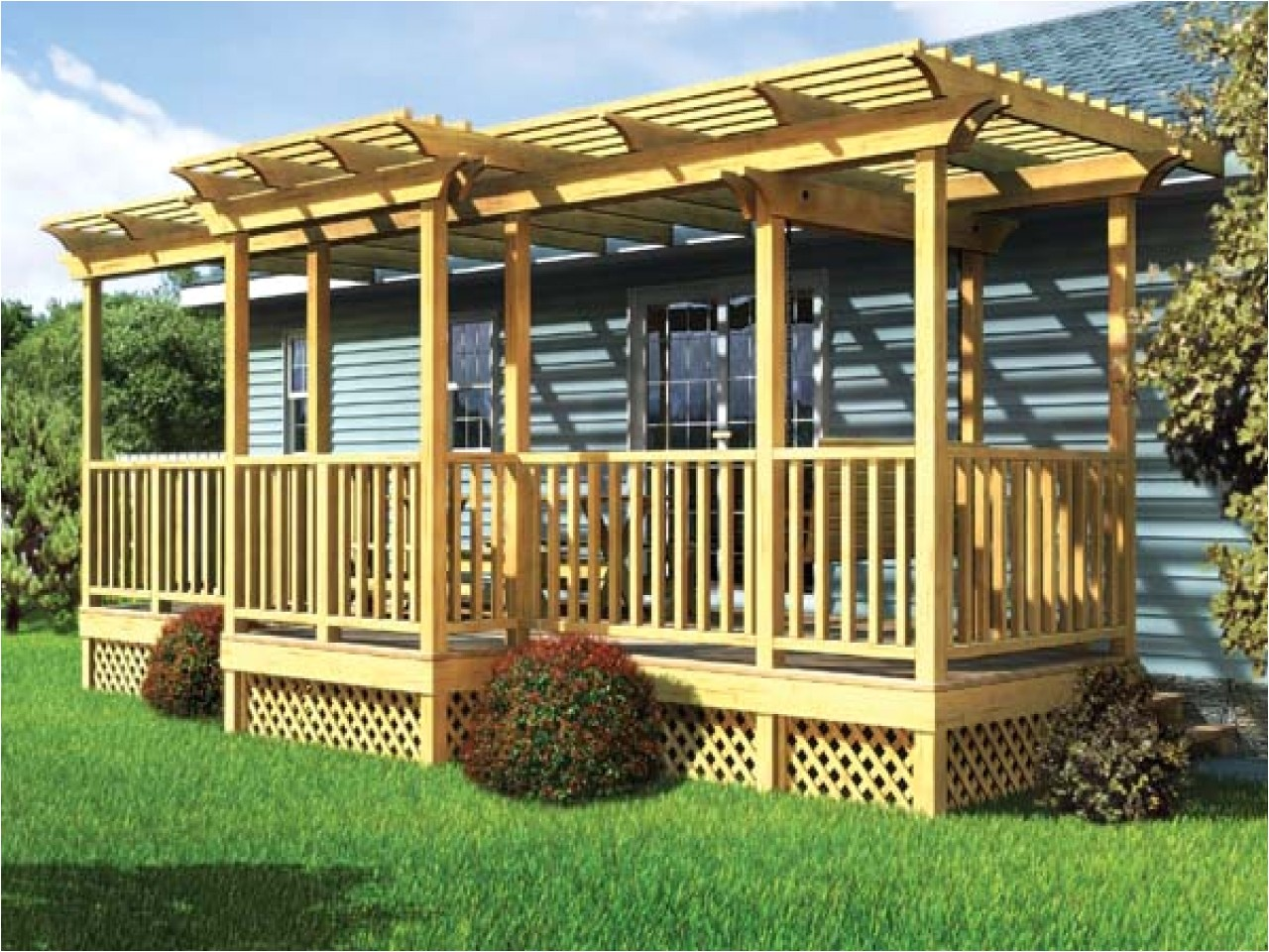 covered porches manufactured homes
