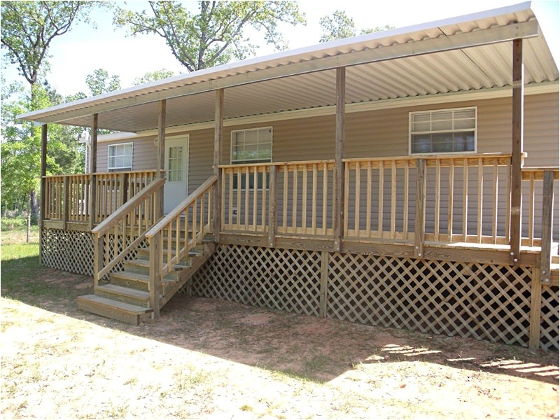 mobile home covered deck plans