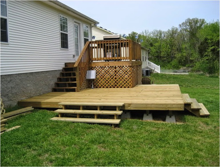 15456 mobile home deck plans free