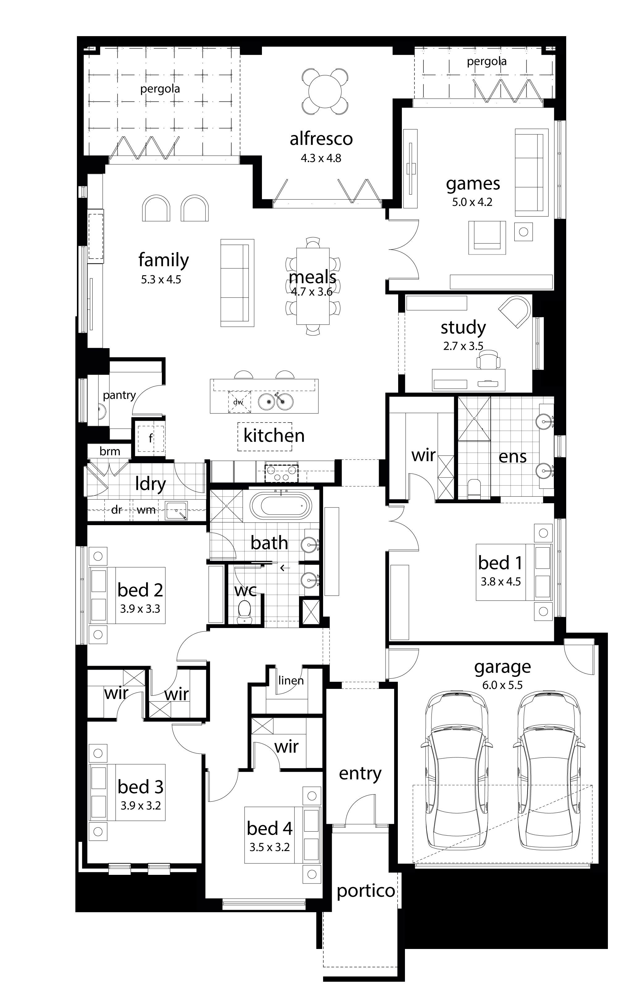 dennis family homes floor plans