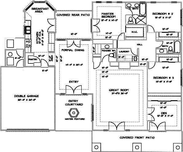 desert home floor plans