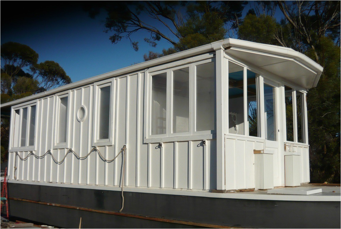 building a 40 diy all wood construction tiny house boat