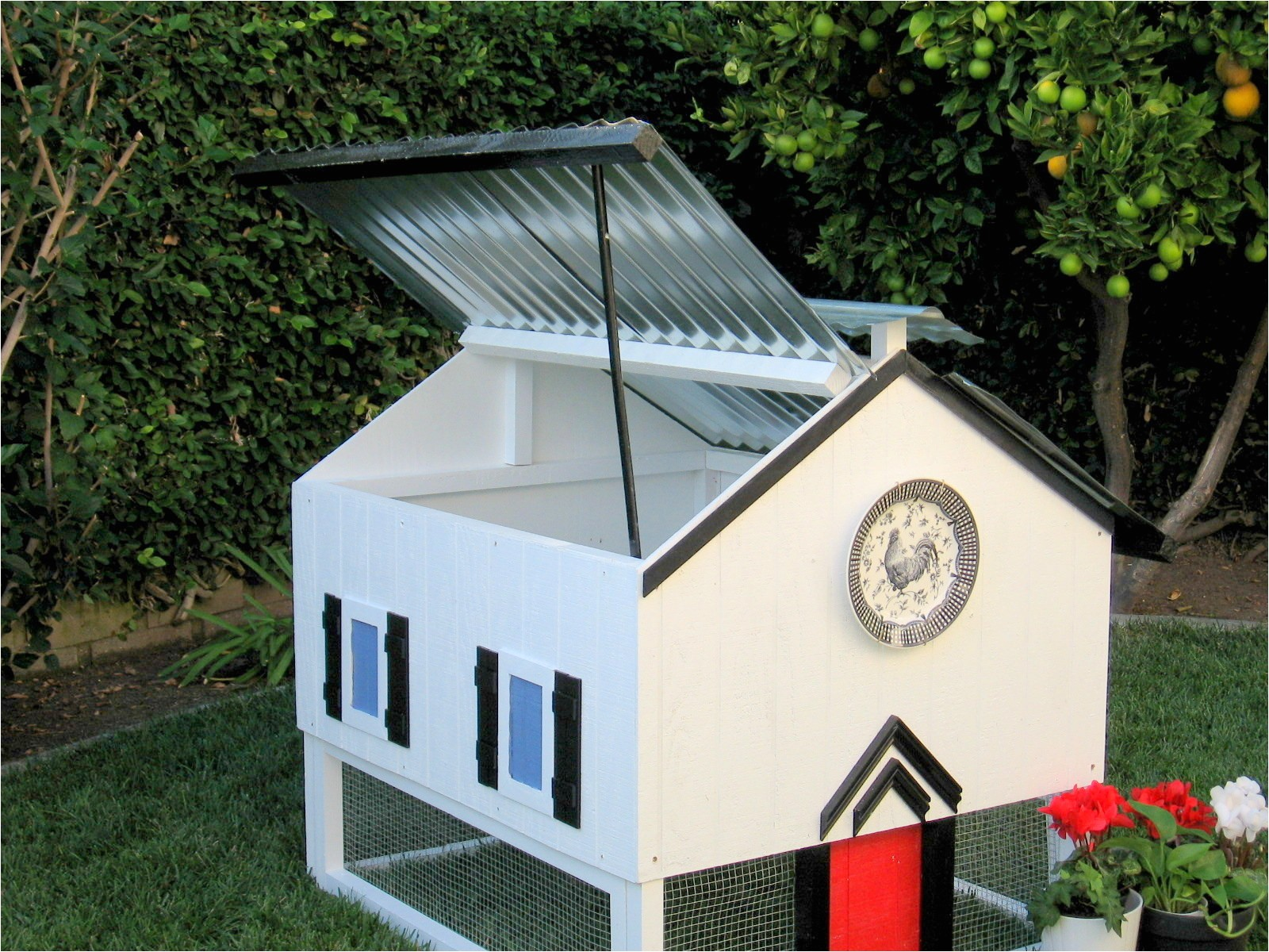 dog house plans with hinged roof