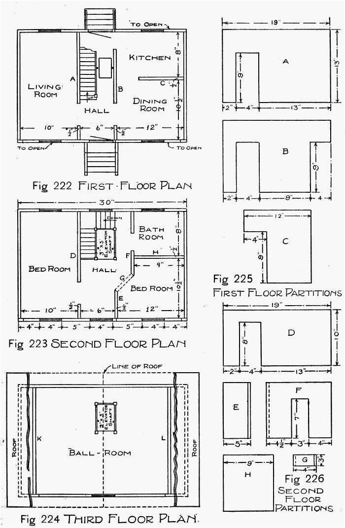 wooden doll house plans how to make