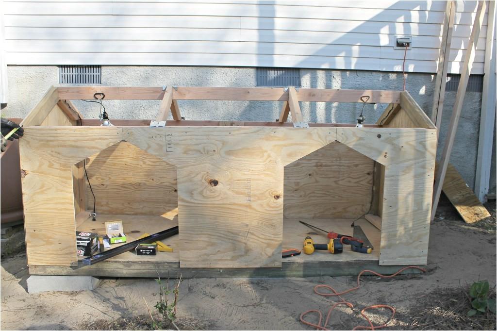 Double Door Dog House Plans Diy Double Door Dog House Intelligent Domestications