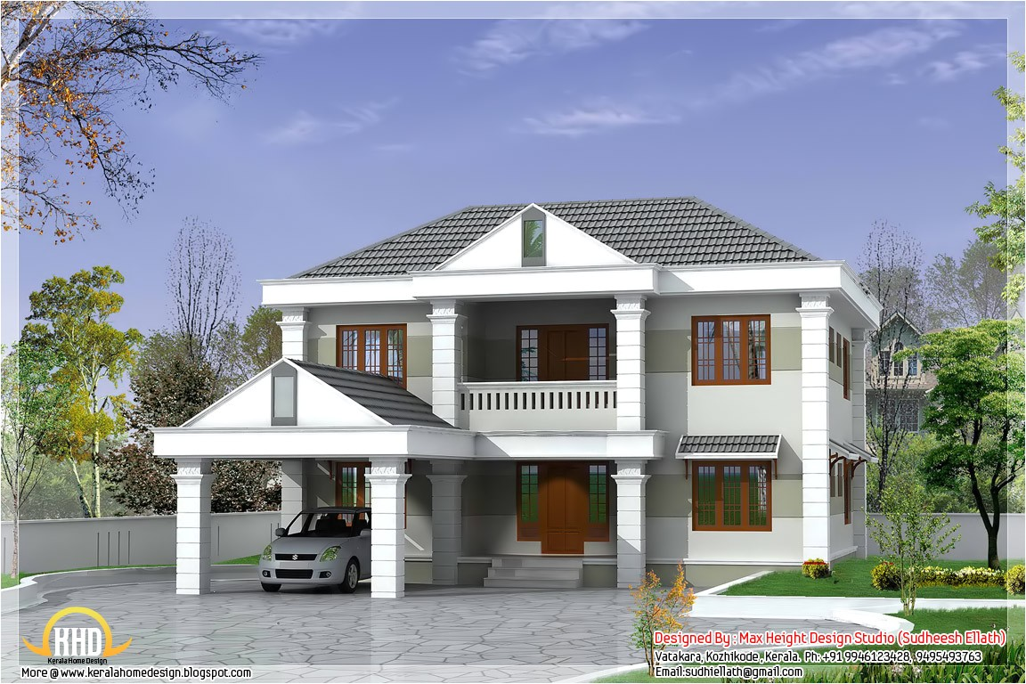Double Storey Home Plans Double Storey Home Design 2850 Sq Ft Kerala Home